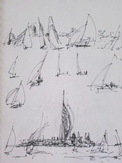 Portsmouth harbour and boats