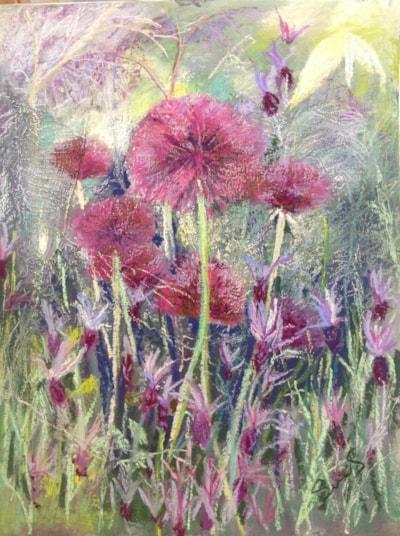 Alliums and lavender