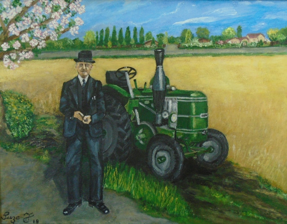 Grandad and his beloved Field Marshall Tractor