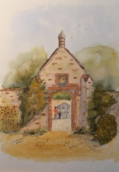 Oxburgh Hall gardens Norfolk