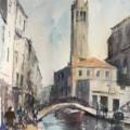 A Canal a Bridge and a Church 2