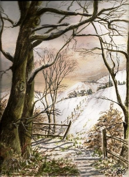 Winter Scene. November painting project