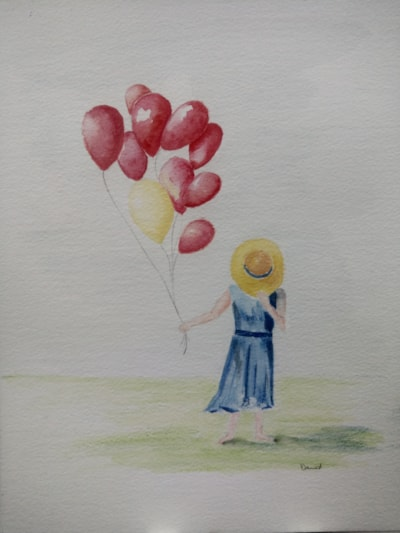 Girl with a yellow balloon