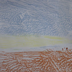 A day on the beach (first Dendritic painting)