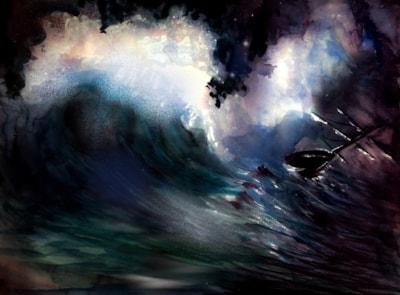 The wild, untameable North Sea