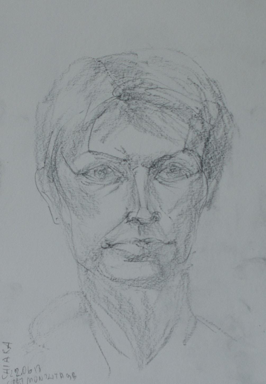 Chiara in graphite A4