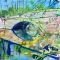 Bridge at Calver in Peak District, ink on 9x7 inch watercolour paper