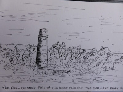 Fell Chimney. pen and ink sketch en plein air.