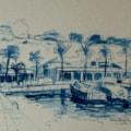 The Marina at Moraira - Plein air sketch.