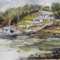 House & Boats - Sketrick Island (Strangford Lough)