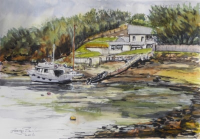House & Boats - Sketrick Island (Strangford Lough)