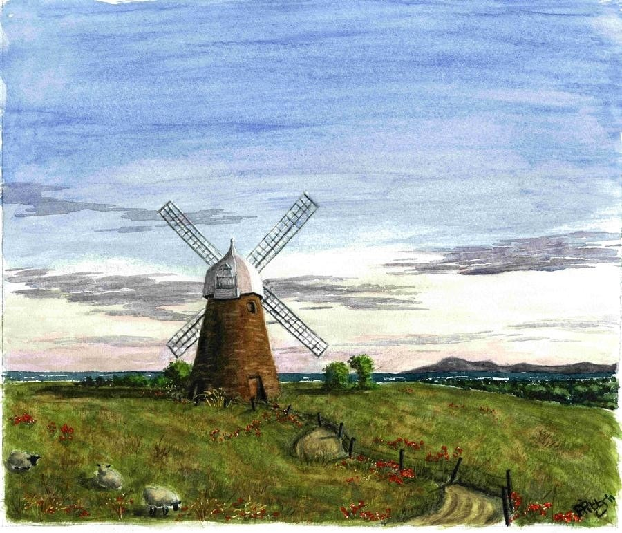 july painting project. windmill