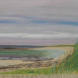 Machair and beach on North Uist
