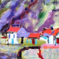 Staithes Roxby Beck. Oil.