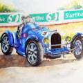 Blue Bugatti 35B