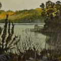 """Scout boat shed - Sawyers Bay "" watercolour (mainly)"