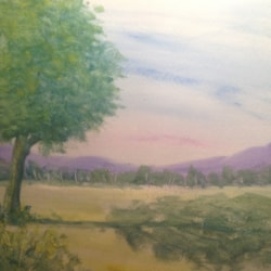 A summer landscape.