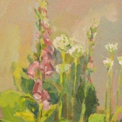 Foxgloves and Alliums