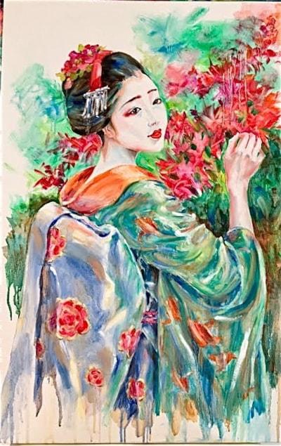 Serenity in silk kimono