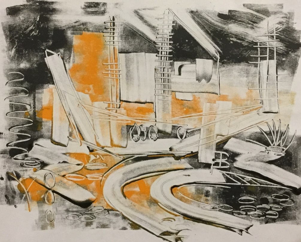 Monotype Boat Abstract