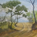 """Road to the beach - 4 wheel drive variety"" watercolour."