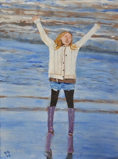 The Girl in the Purple Wellingtons