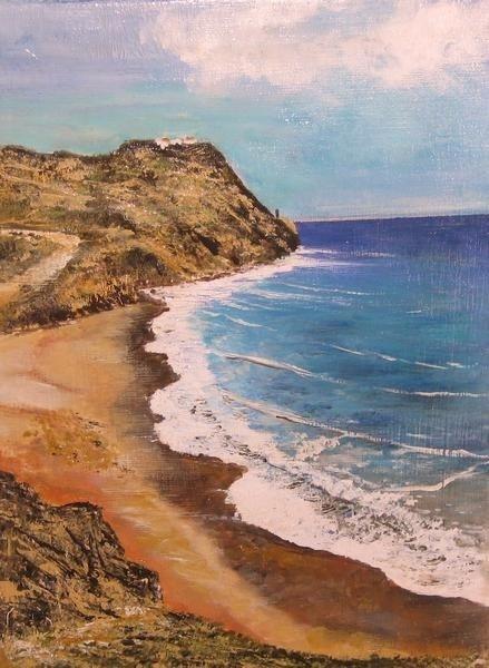 Mojacar Beach, Almeria, Spain  14 x 8 by Carole D Kelly
