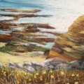 Daffodils growing near the cliffs in Amble, off the North Sea  12 x 10 by Carole D Kelly