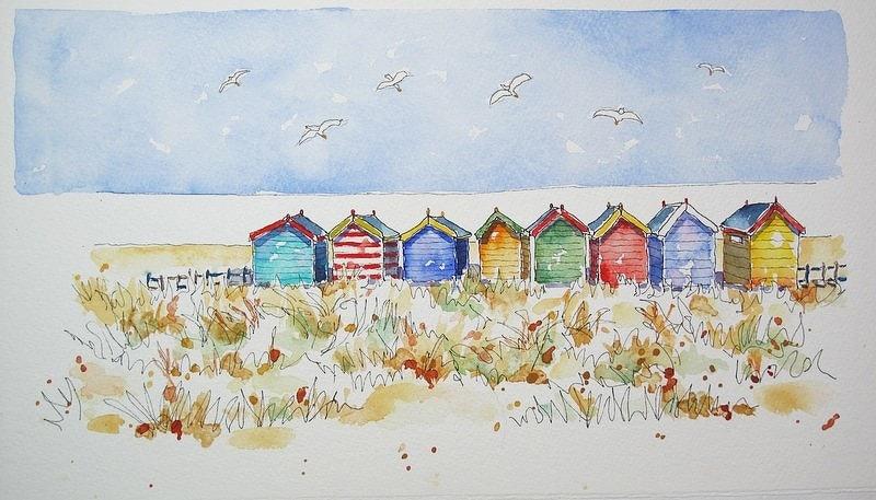 Beachhuts and Birds