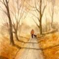 Winter dog walk, Daisy Nook.