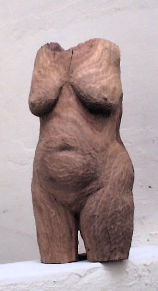Torso - wood - 30 cm high