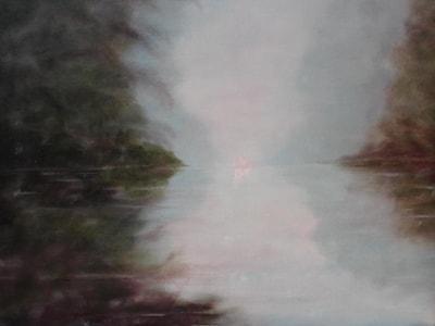 morning lake after Monet