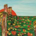 Landscape with flowers oil painting Bogomolnik