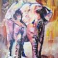 elephant acrylic demo