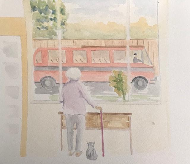 empty buses