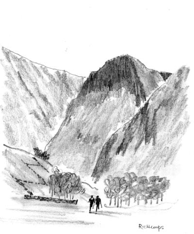 Eagle Crag, Borrowdale, Cumbria.