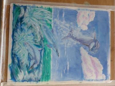 Blue Ballet acrylic