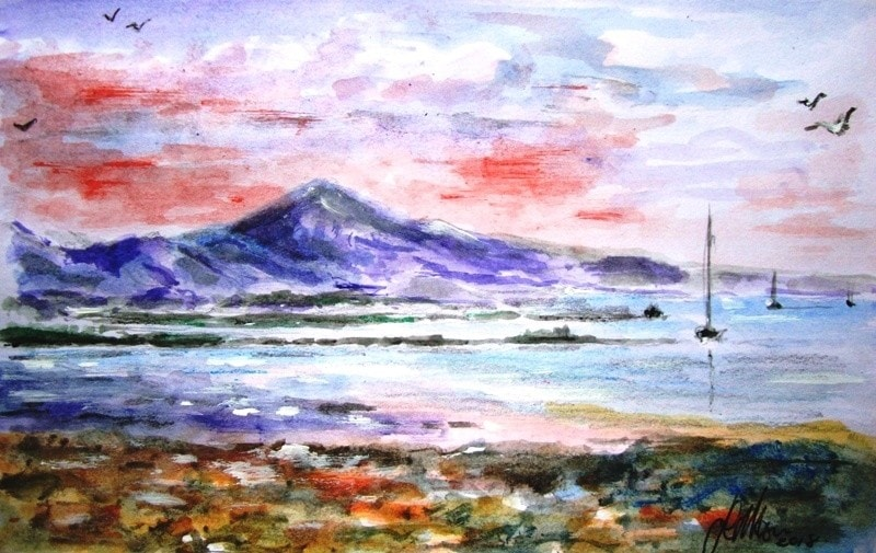 A view of Croagh Patrick....