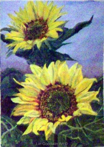Sunflowerss In Acrylic