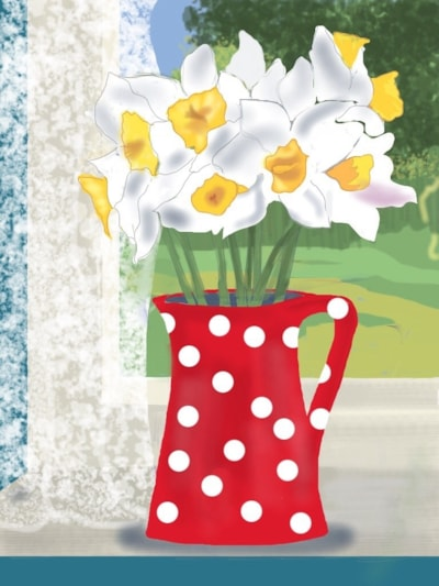 Flowers for Mothering Sunday - iPad painting