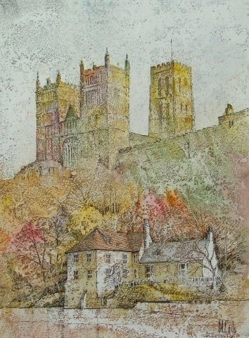 Durham from the Corn Mill