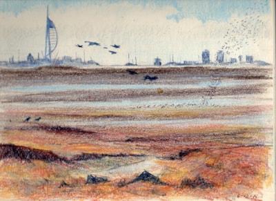 shoreline; Portsmouth Harbour