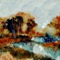 River Trent painted en-plein-air this morning.