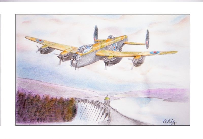 Lancaster Bomber over Elan valley