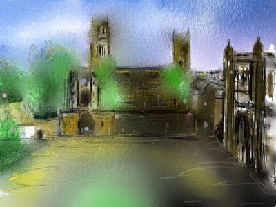 From the Tunstall Gallery, University College, The Castle, Durham City