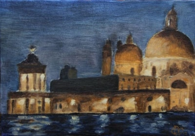 San Salute Venice by night