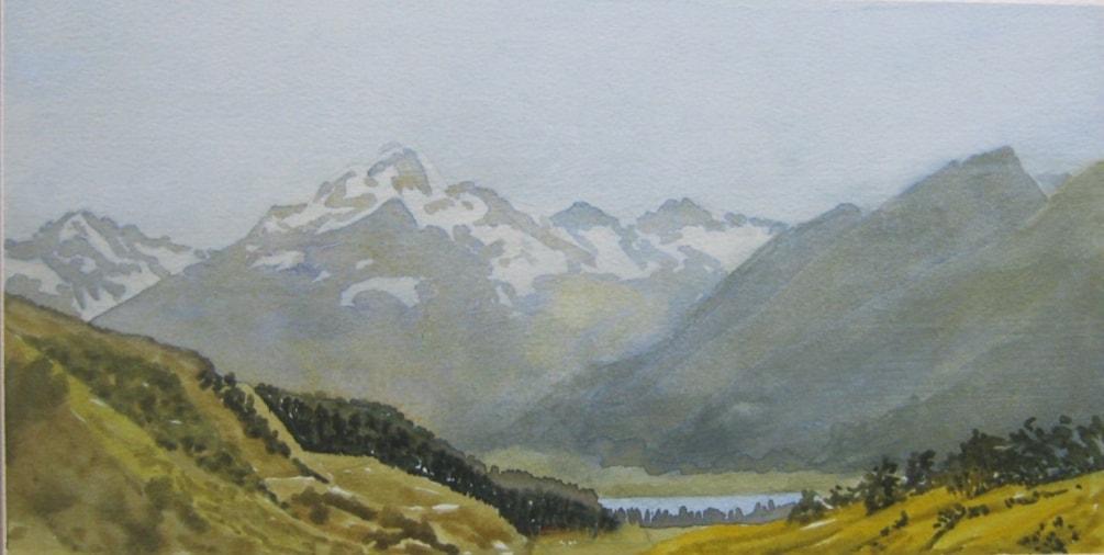 """ Mount Cook""  watercolour"
