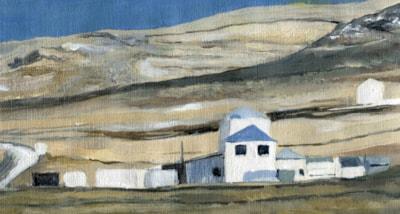 Buldings in a Falkland Islands landscape