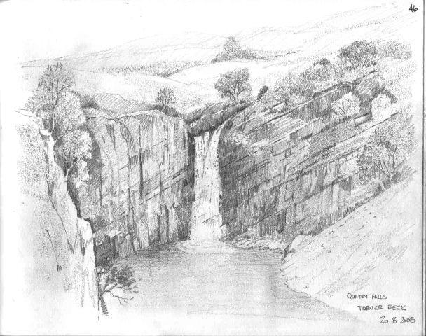 Quarry falls near Torver Beck
