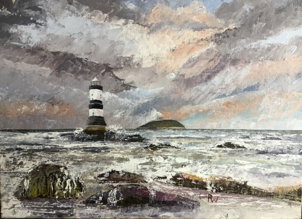Puffin Island and Lighthouse - Anglesey